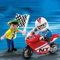 ENFANTS AVEC MOTO DE COURSE - 4780