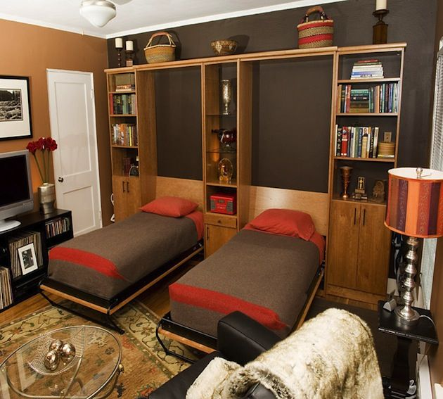 Attractive Hideaway Bed Part - 5: 13 Functional Hideaway Bed Design Ideas. Having An Extra Bed In Your Tiny  Home Is