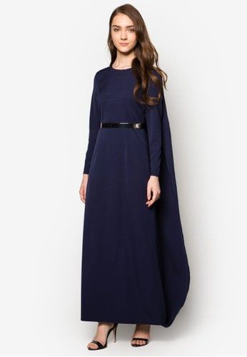 98db621b68 Zalia - Long Cape Maxi Dress