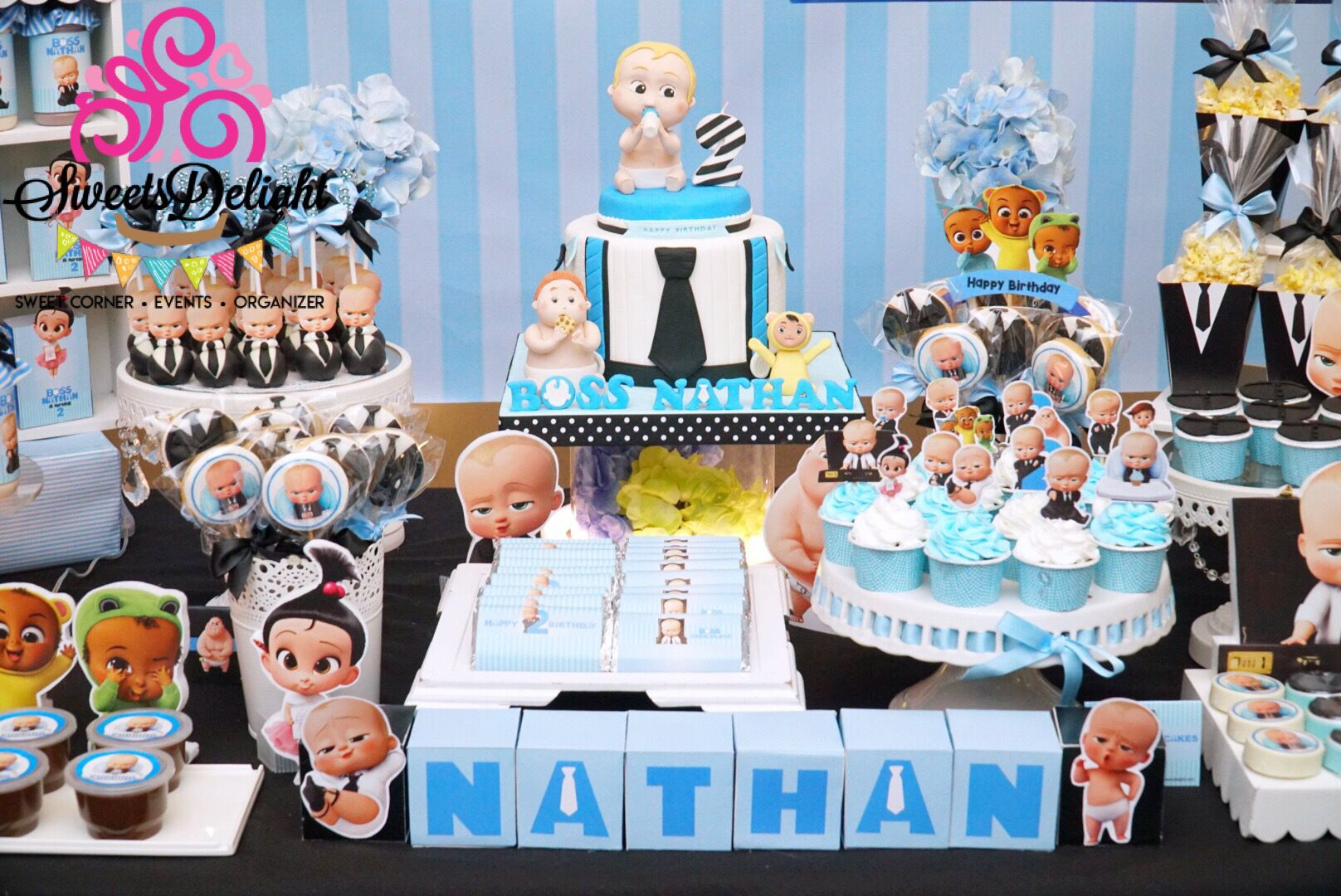 Boss Baby Dessert Table With Images Baby Birthday Themes Baby