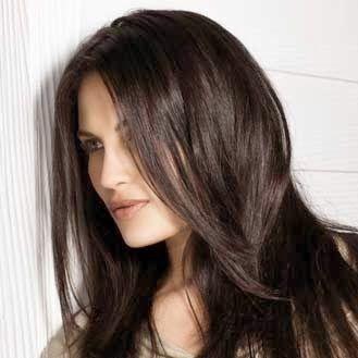 henné cheveux Pour une coloration naturel châtain foncé