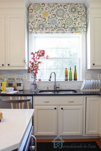 kitchen shades counter solutions change the look of your roman easily with fabric and tape