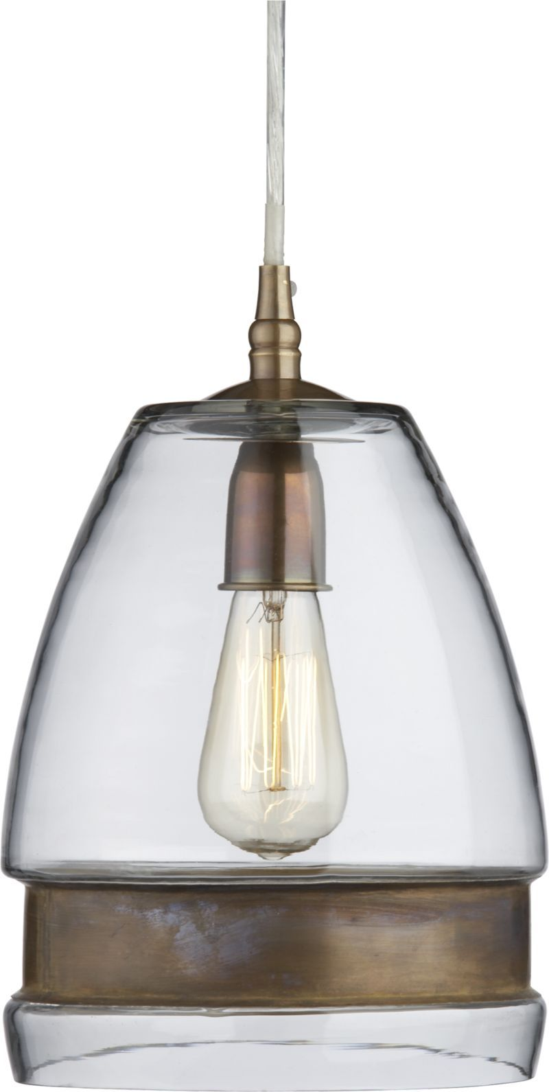 Morela Glass Pendant Lamp Crate And Barrel Glass