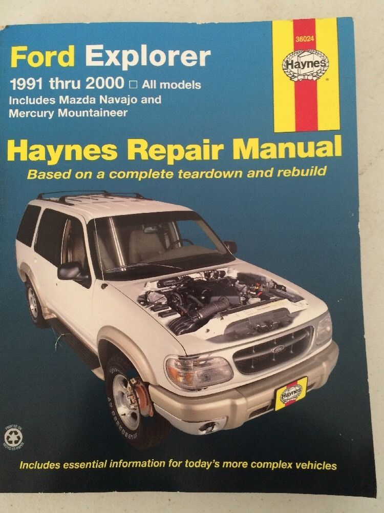 HAYNES Repair Manual FORD EXPLORER 19912000 All Models