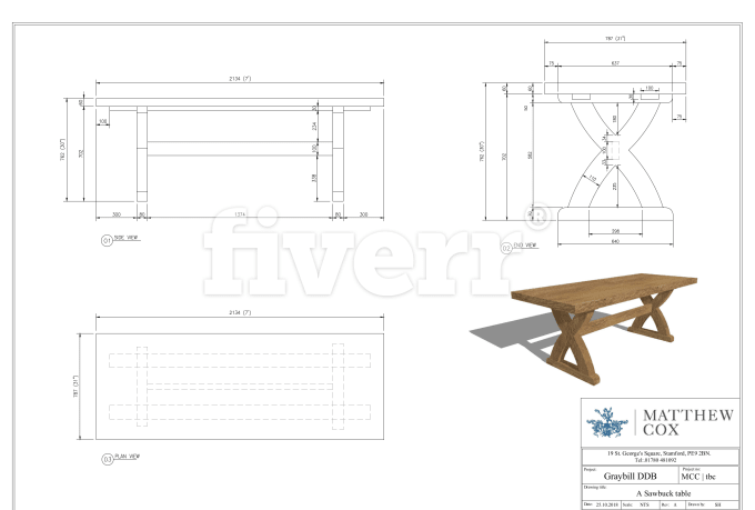 Draft Furniture Woodworking Joinery Cad Shop Drawing Furniture