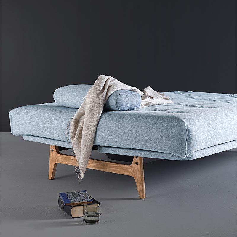 futon seng Aslak er desigi skandinavisk stil med ben i flot forarbejdet  futon seng