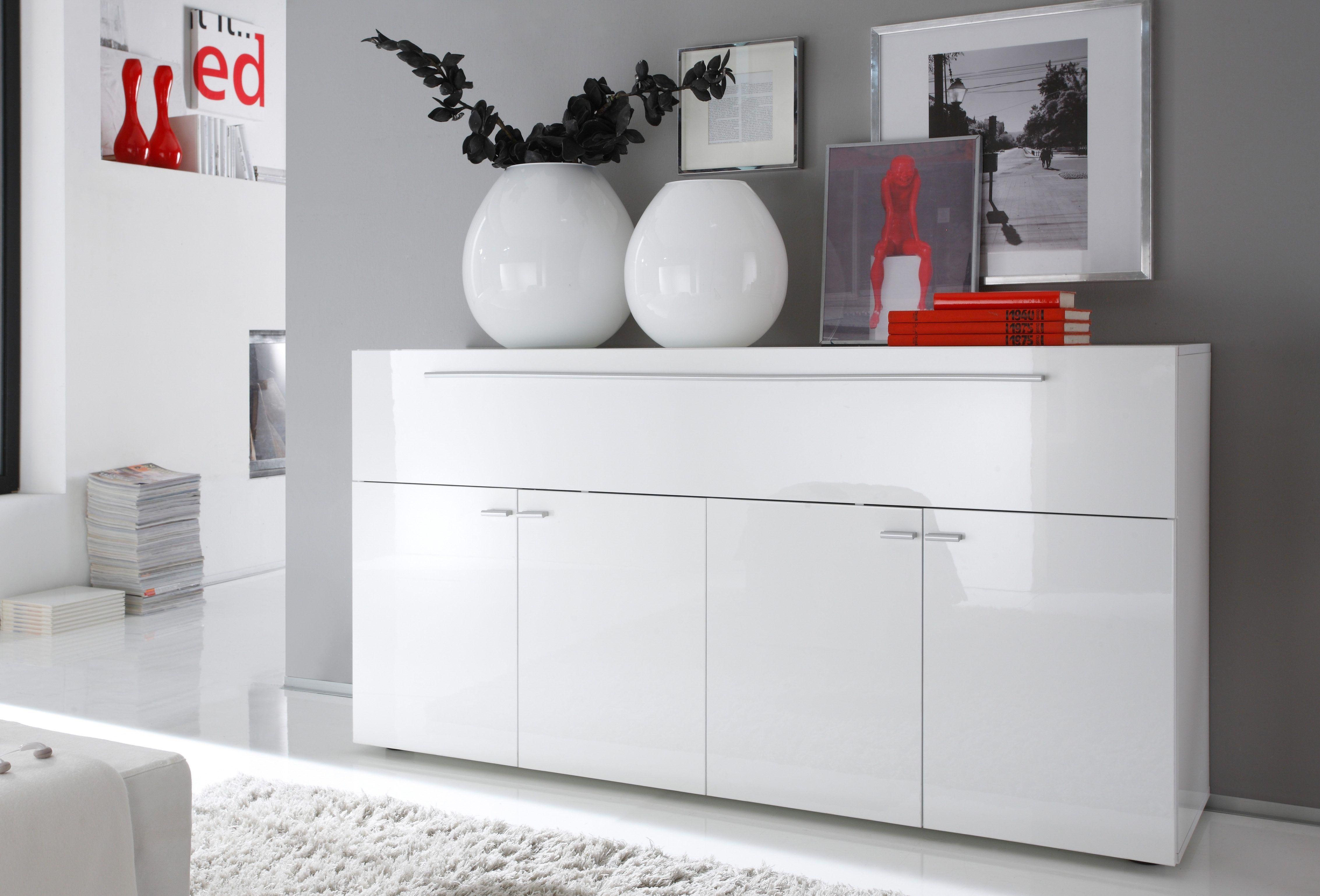 Highboard Wohnzimmer ~ Lc sideboard weiß ohne aufbauservice hochglanz jetzt bestellen