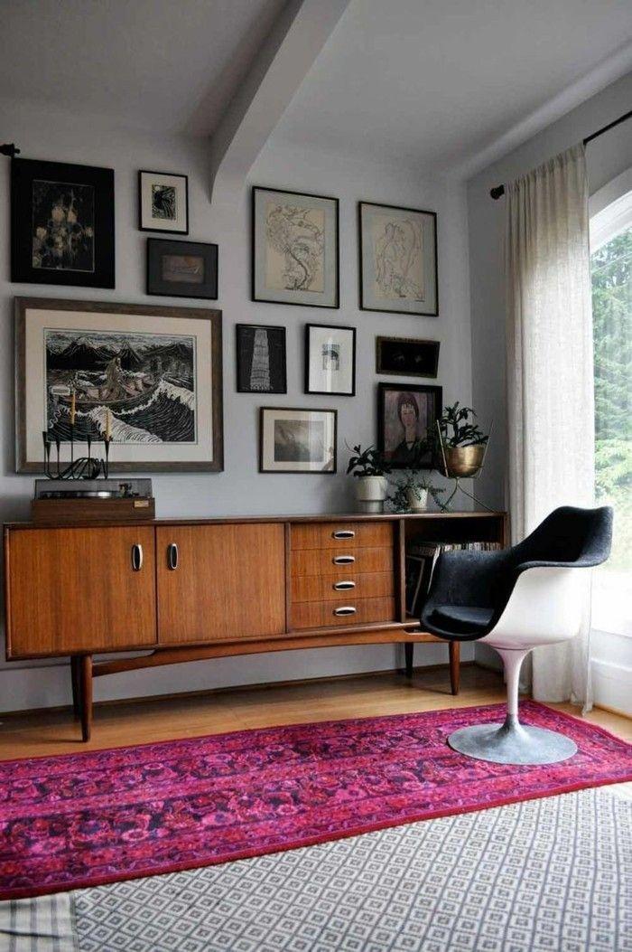 vintage m bel 50er jahre stil im zeitgen ssischen konzept moderne wohnzimmergestaltung