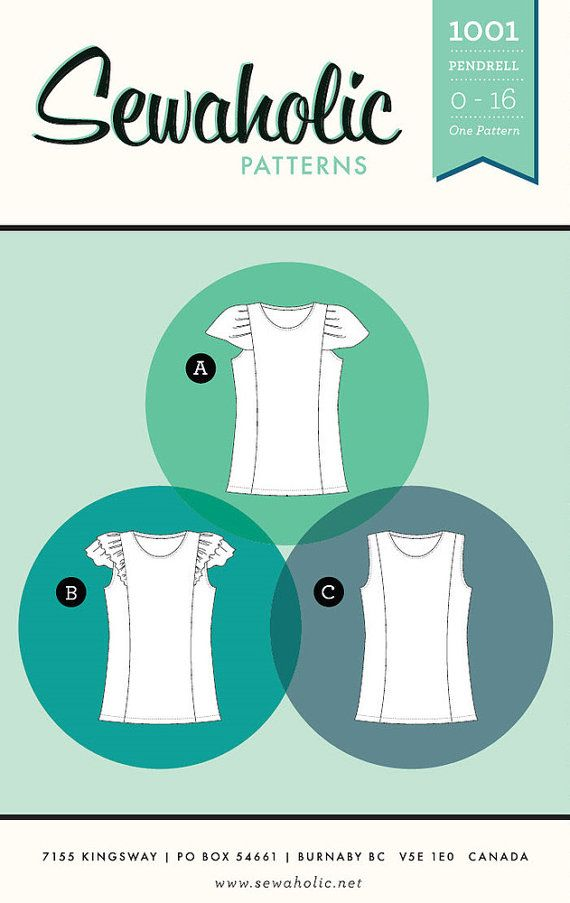PENDRELL TOP pattern by Sewaholic Patterns sizes 0-16 (all sizes ...