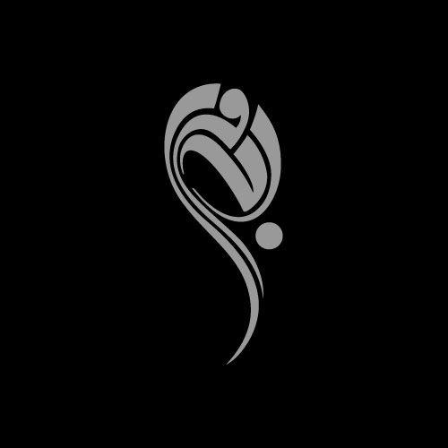 Bodour بدور arabic calligraphy modern typography logo