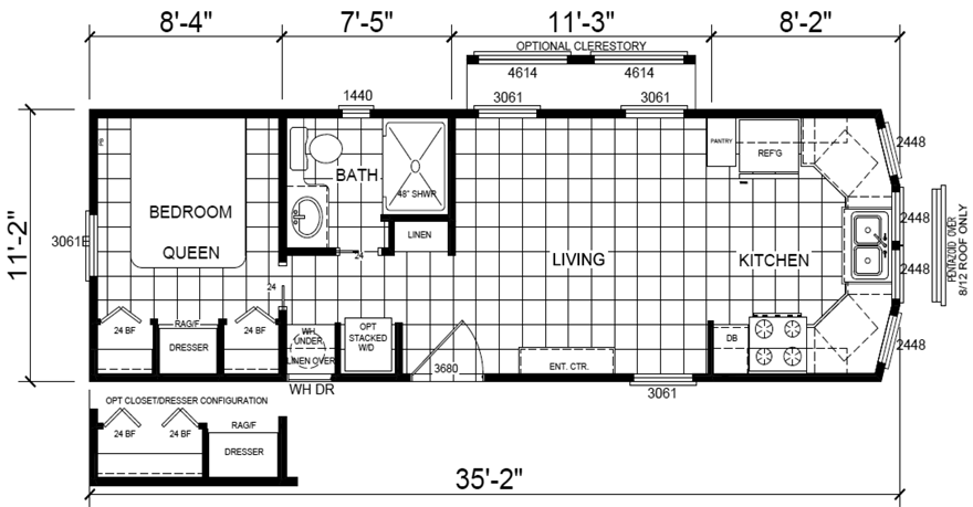 Casita 11 X 35 Park Model Rv Floor Plan Mobile Home Floor Plans Rv Floor Plans Park Model Rv