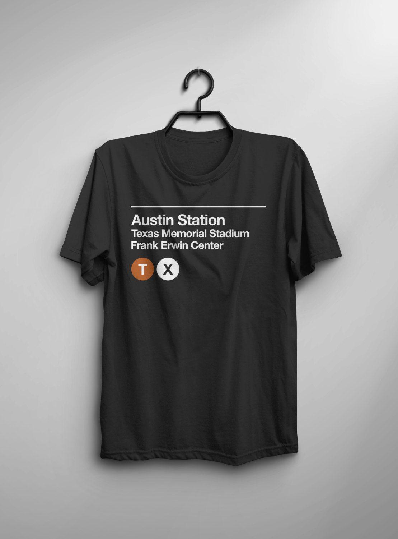 Austin Sports Venue Subway TShirt by SussiesHome on Etsy