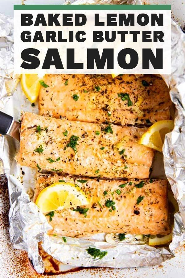 Baked Lemon Garlic Butter Salmon | Savory Nothings