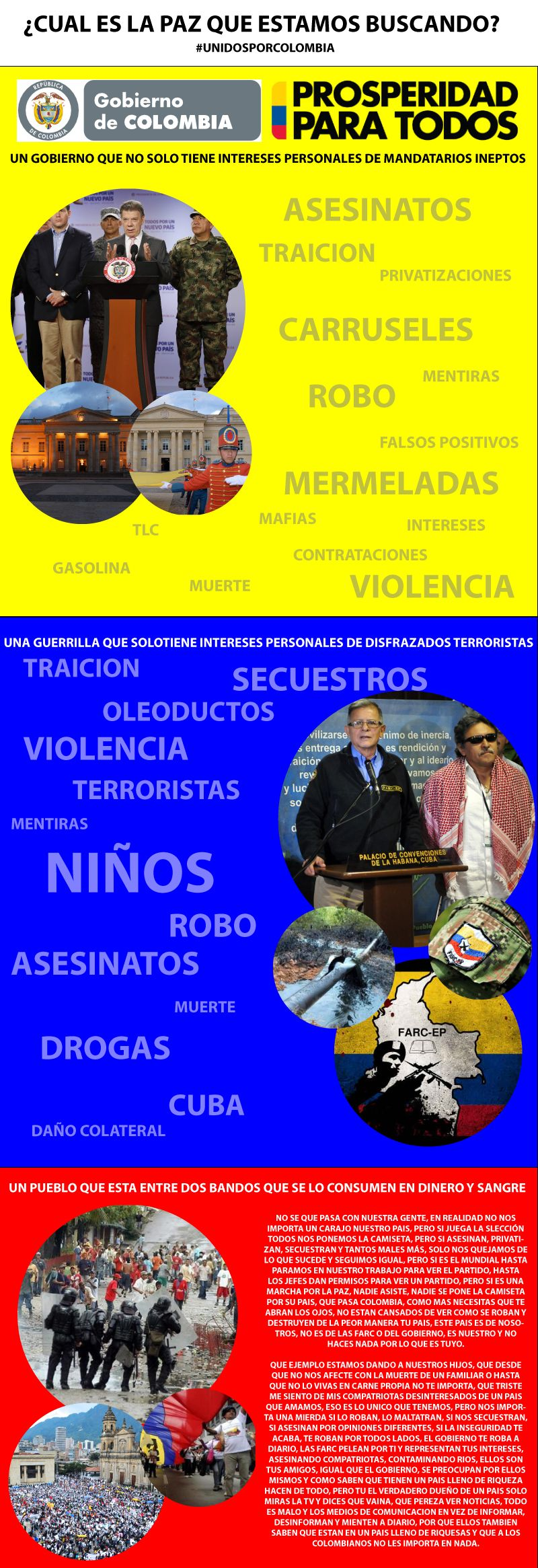 #UNIDOSPORCOLOMBIA