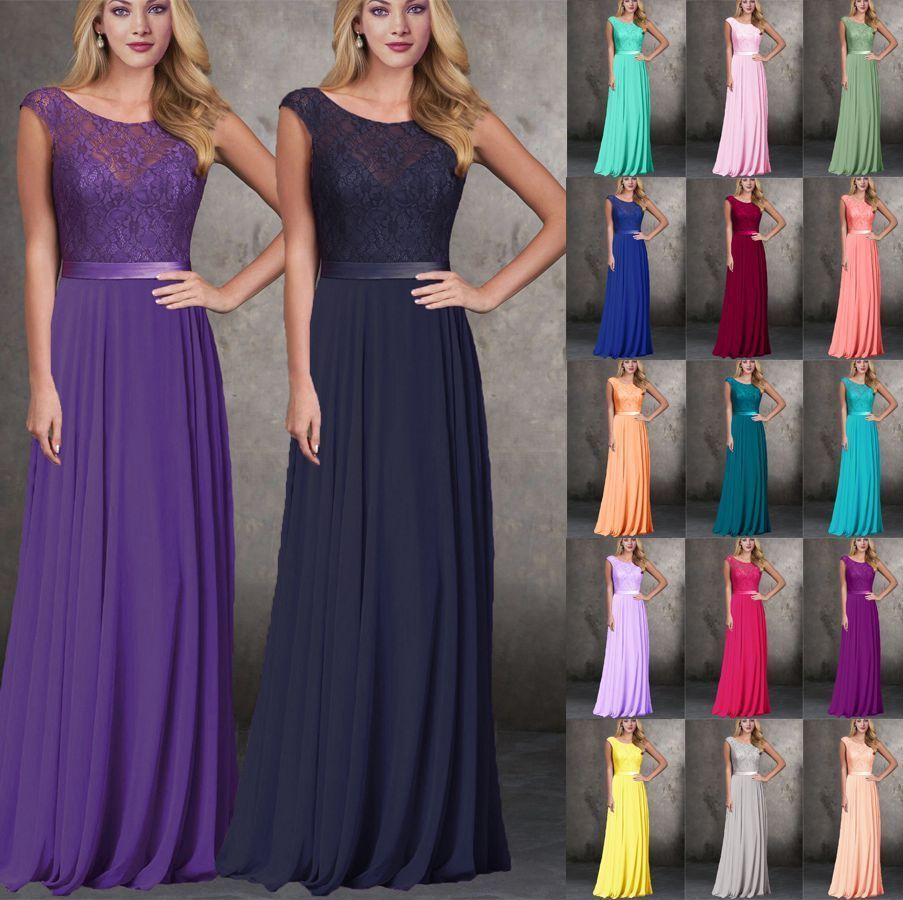Floor length formal evening dress bridesmaid dresses party prom