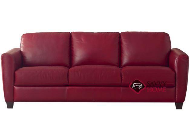 B592 Natuzzi Sofa Shown In Belfast Red