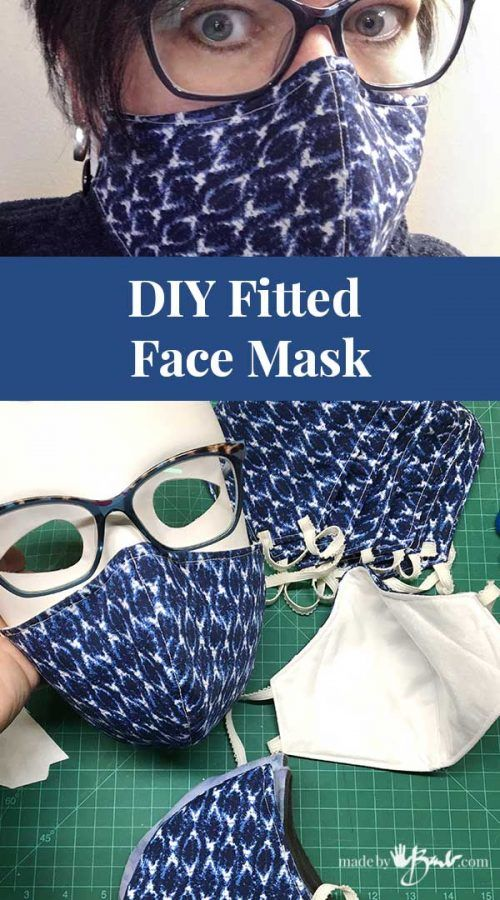 DIY Fitted Face Mask - Made By Barb - free pattern designed to fit well