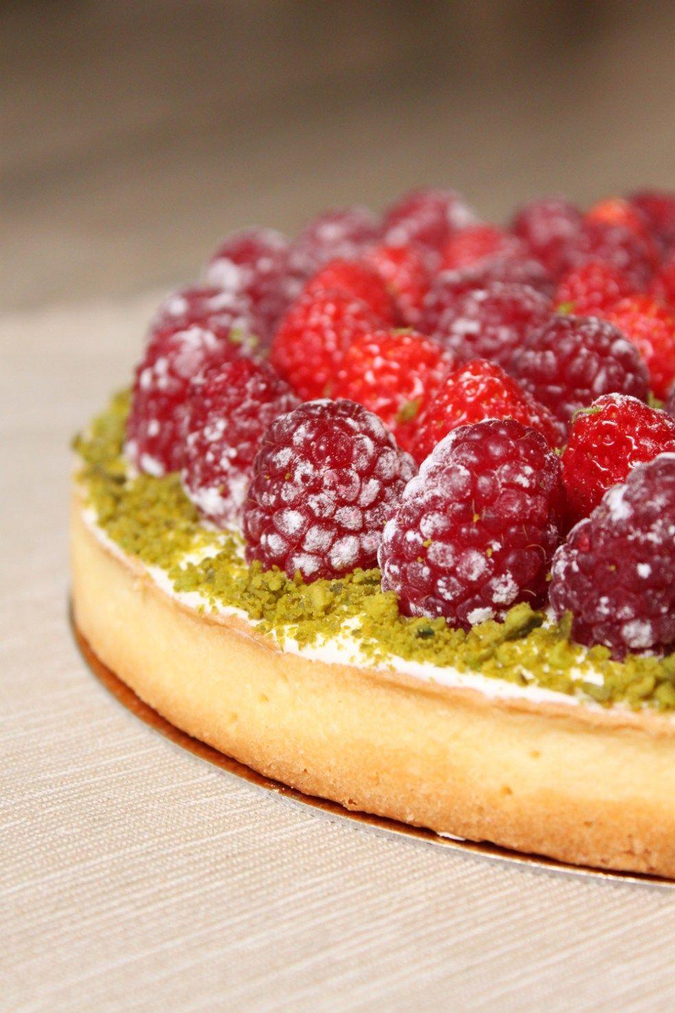Voici la recette de ma tarte aux fruits rouges pistache ...