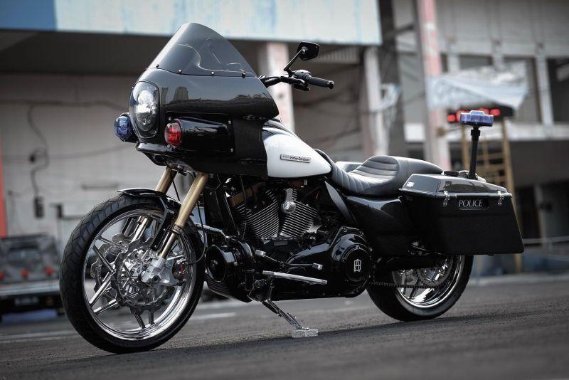 Harley Davidson Electra Glide Bagger Police By Garasi 19 Harley Davidson Electra Glide Harley Davidson Electra Glide Baggers Harley Davidson