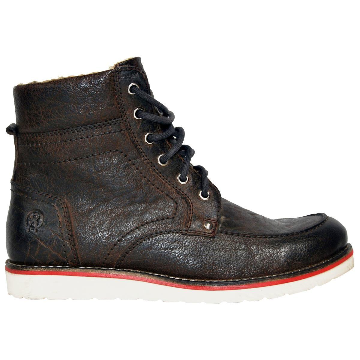 """#Stivaletti invernali """"Winter Workboot"""" del brand #JesseJames color nero/marrone 100% pelle con calda fodera. La suola è completamente imbottita per una maggior qualità e durata."""