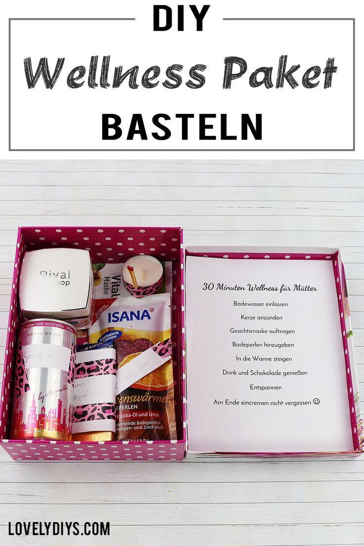 DIY Wellness Paket basteln - schöne Geschenkidee für Frauen zum Muttertag, Geburtstag oder einfach für Zwischendurch.#geschenkidee #basteln #diy