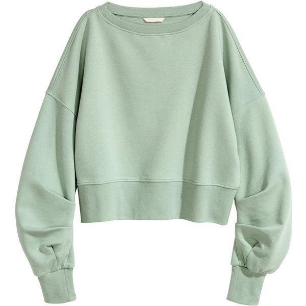34f079962878 Short Sweatshirt  39.99 (€37) ❤ liked on Polyvore featuring tops, hoodies,  sweatshirts, green top, green sweatshirt and harness top