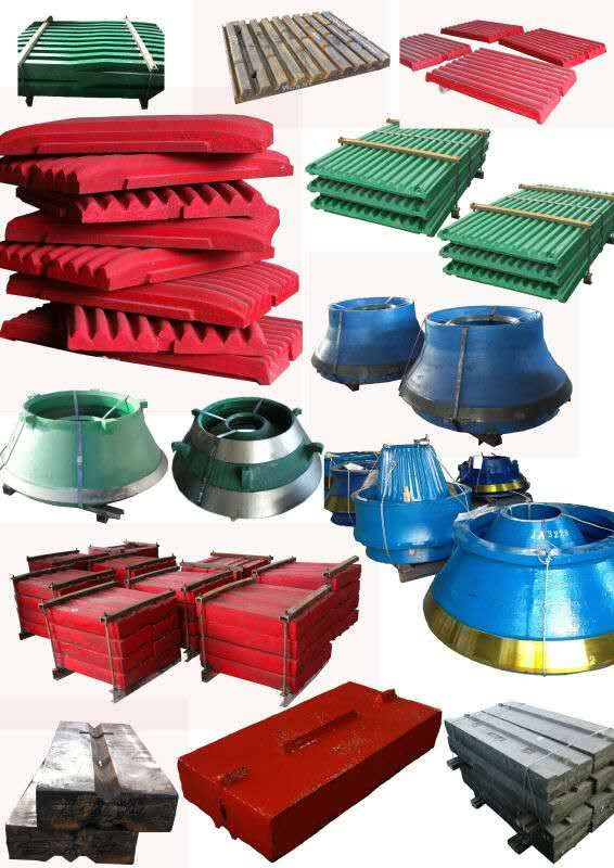 crusher wear parts in high manganese, high chrome  mantle