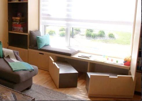 10 Astuces De Rangement Pour Le Salon Sunroom Designs Loft Decor Banquette