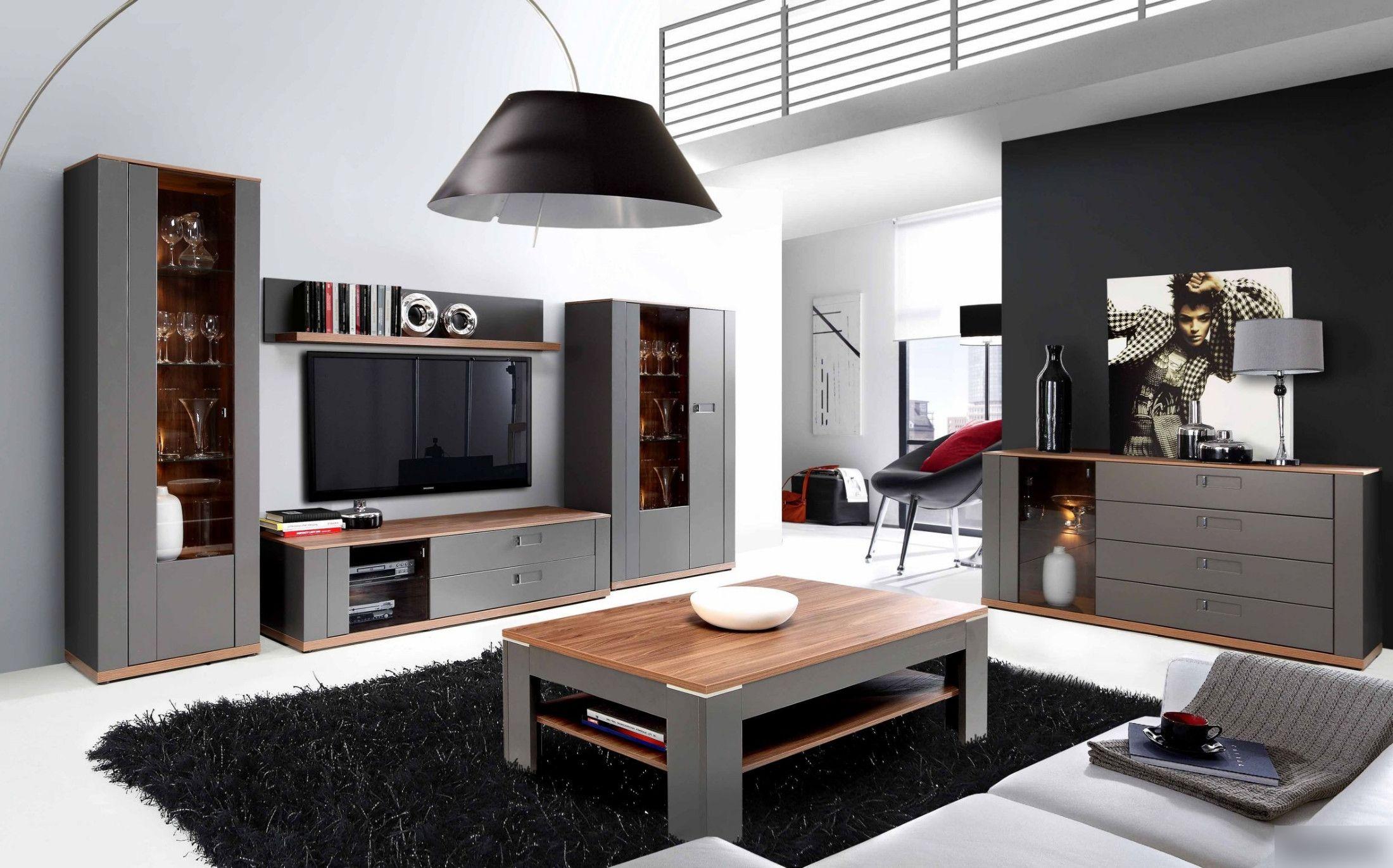Wohnzimmer Set ~ Wohnzimmer set grau und sangallo eiche woody mdf modern