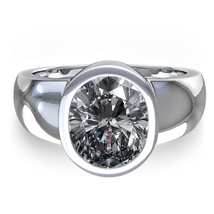 Diamond · Bezel Set Engagement Rings 3 f3510b69a