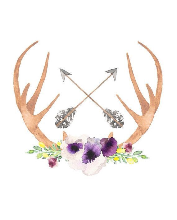 Floral Antler Tattoo: Antler Floral IPhone Wallpaper