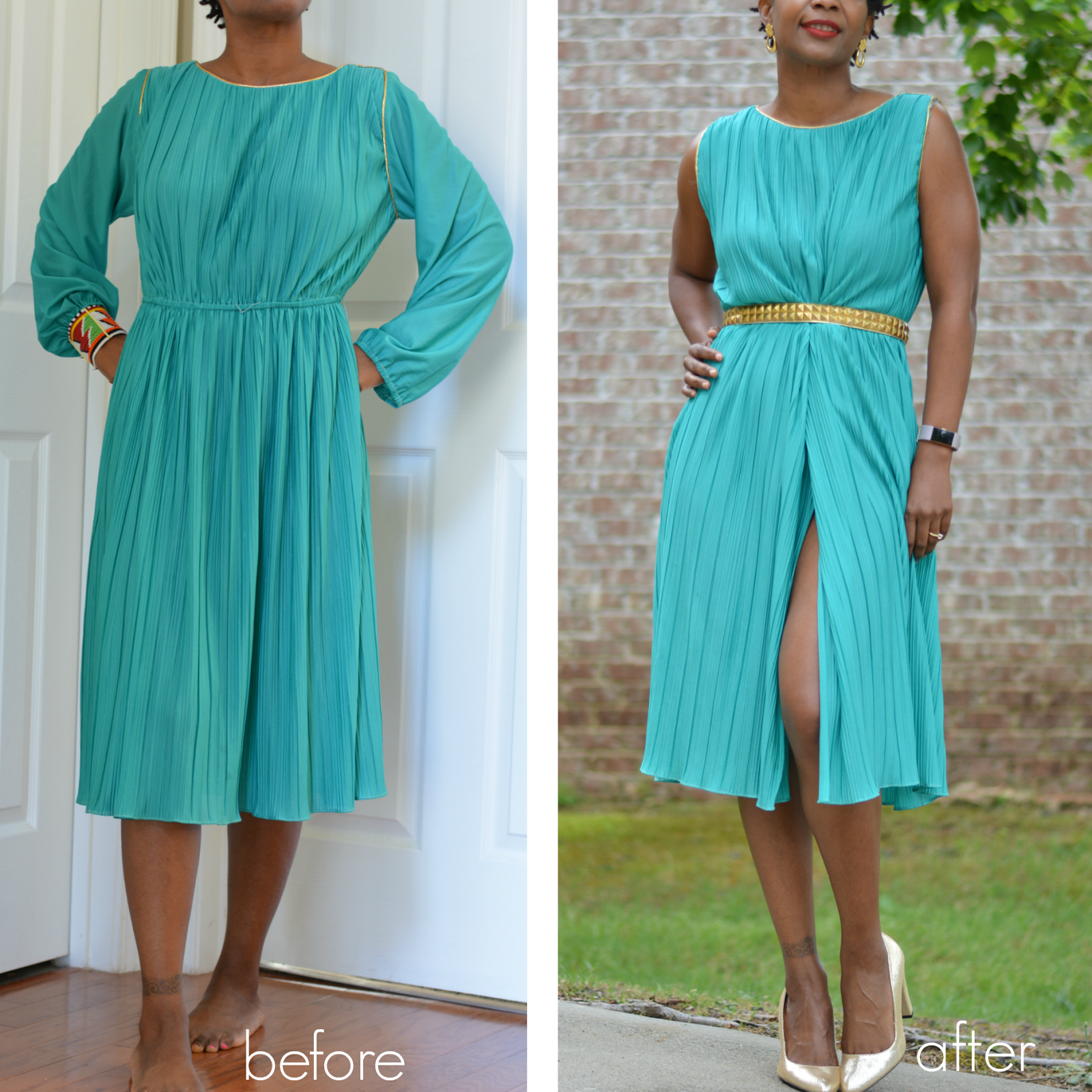 Diy Fashion Beauty Youtube: 3 Step Beast To Beauty Vintage Dress Makeover