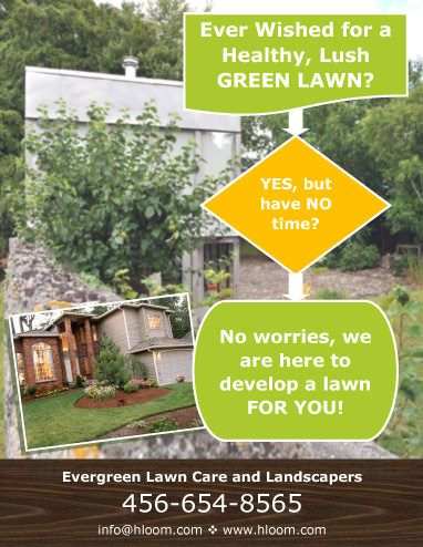 Free lawn care advertising flyers and templates printable ready-to