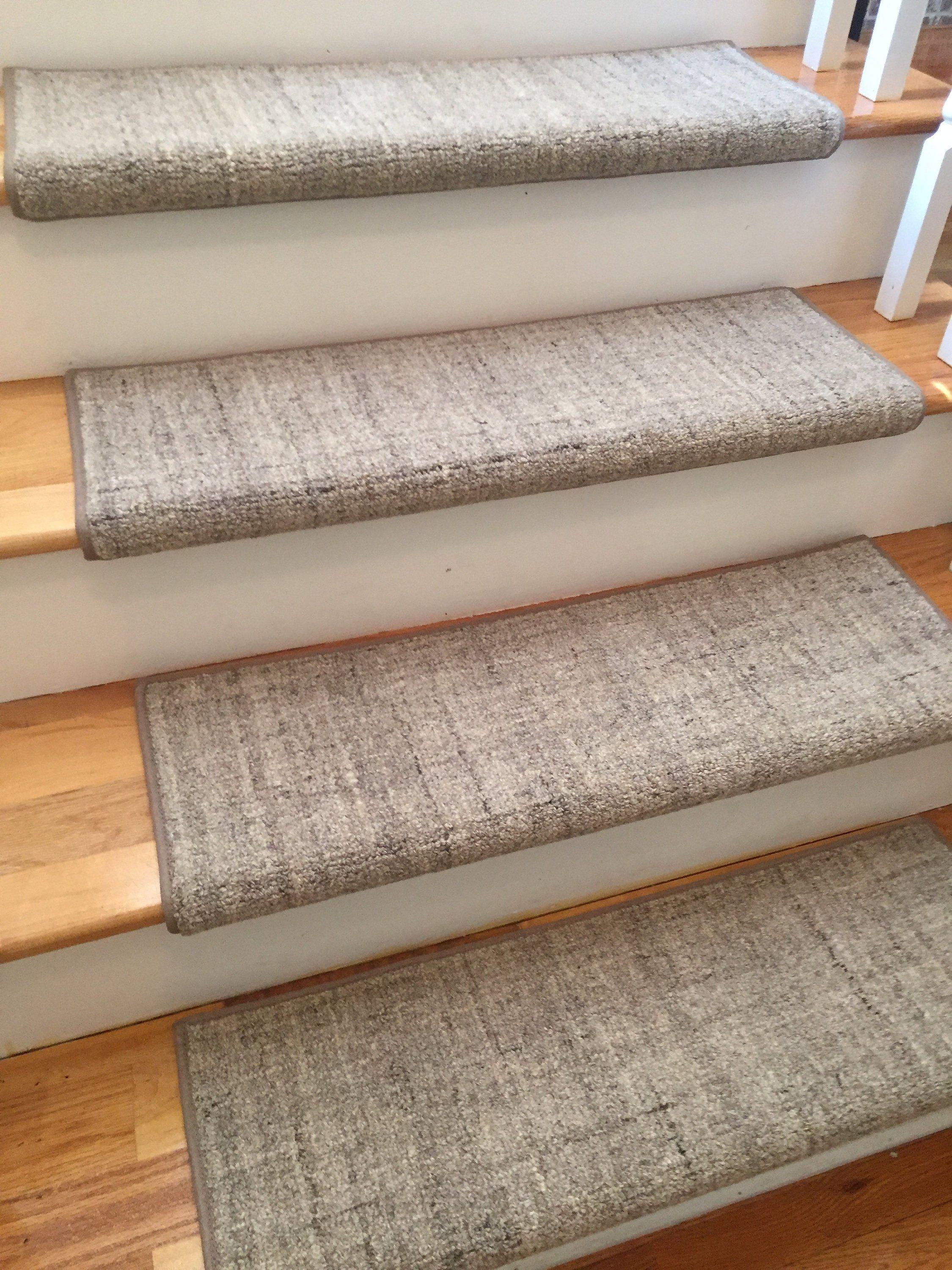 Terrain Hand Loomed 100 Wool Multiple Colors True Bullnose Padded Carpet Stair Tread For Safety Com Carpet Stair Treads Carpet Treads Stair Runner Carpet