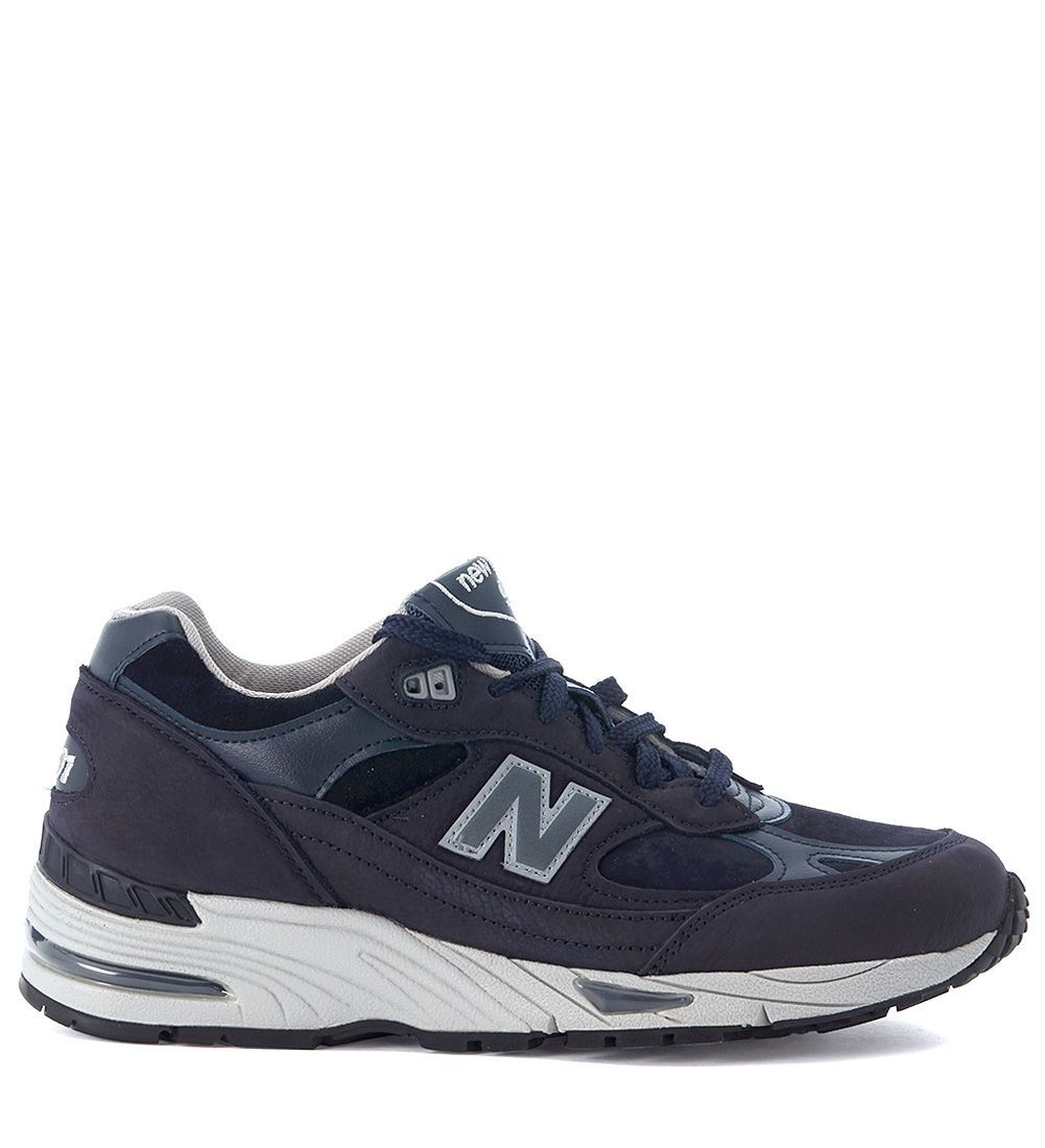 online store 5582e 9db47 NEW BALANCE SNEAKER NEW BALANCE 991 BLUE LEATHER AND SUEDE.  newbalance   shoes