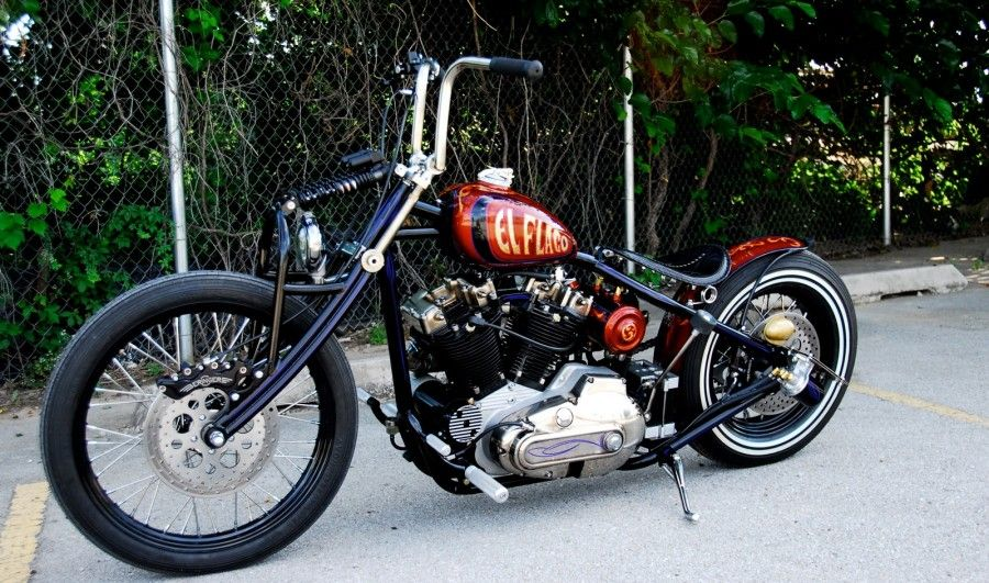 Custom Red Chopper / Bobber Bike