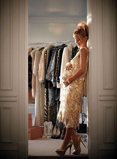 pregnant rachel zoe. my maternity style... sequin cocktail dresses everyday.