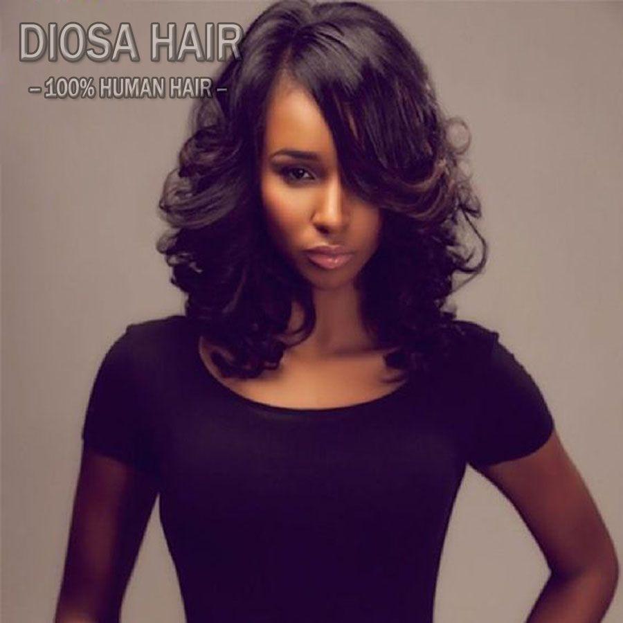 U part human hair wigs wavy with baby hair density brazilian