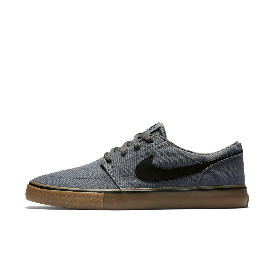 first rate abfb6 a96c3 Nike SB Solarsoft Portmore II Canvas Men s Skateboarding Shoe Size 4 (Dark  Grey)