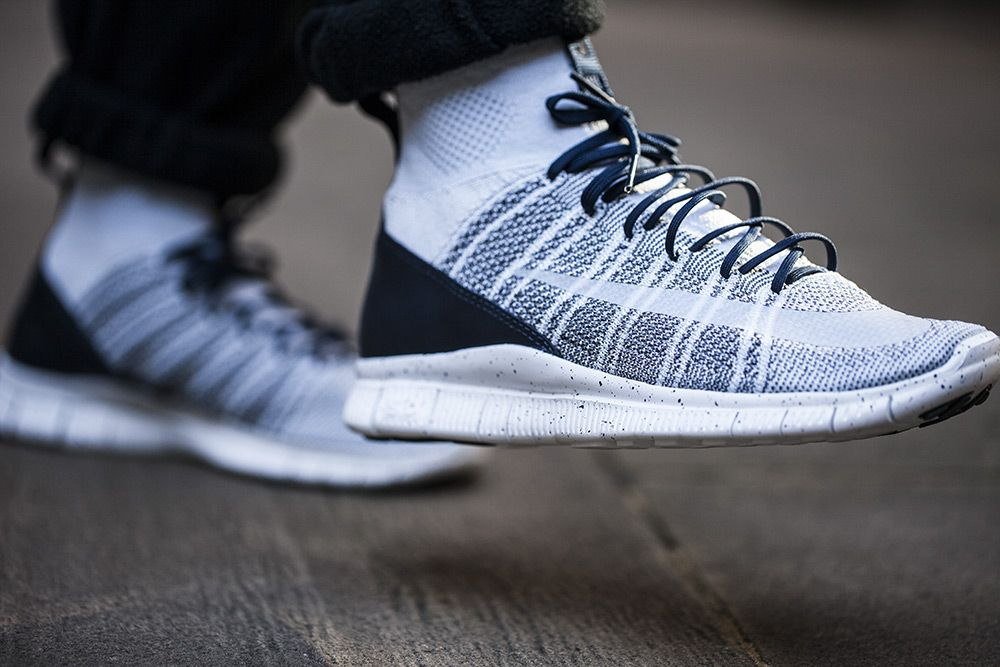 Packaged in Flyknit and Flywire on a Free the Nike Free Flyknit Mercurial  Superfly takes its shape and form from its football boot counterpart.