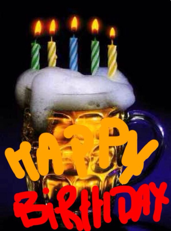Happy Birthday Men Beer Candles Funny