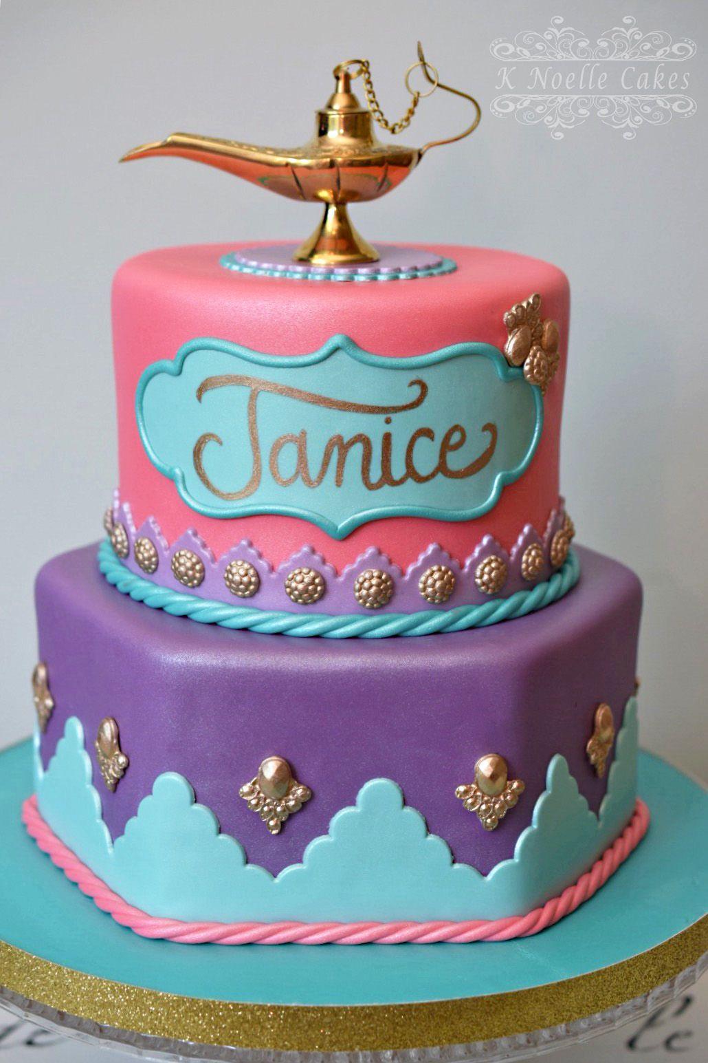 Jasmine Theme Cake By K Noelle Cakes Aladdin Cake Aladdin