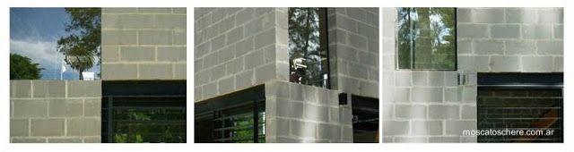 Detalles arquitectónicos de tres de las fachadas del cubo