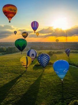 hot‐air balloon