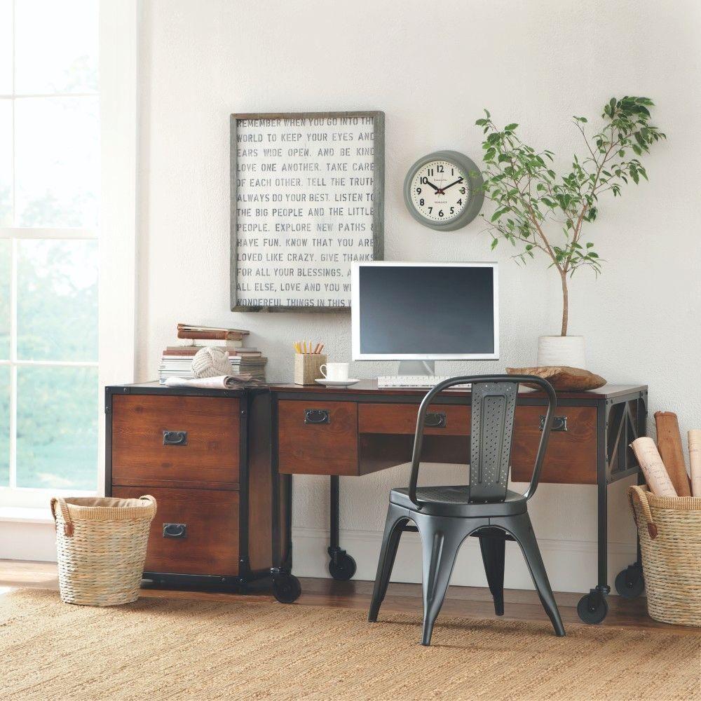 Home Decorators Collection Empire 53 5 In W Computer Desk Black 0559900210