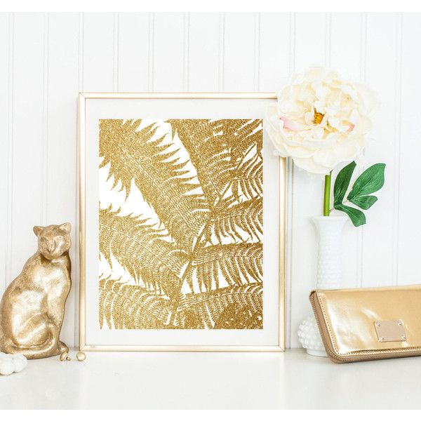gold Palm Leaf Print, Plant Photo, botanical Wall Art, Large ...