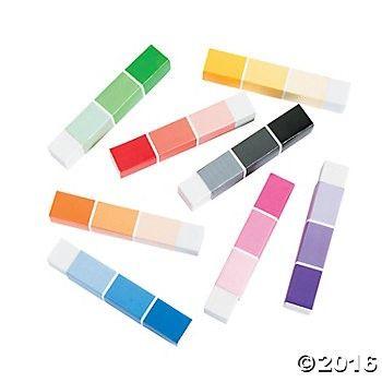Paint Chip Eraser Sticks 24pk Party Supplies Canada Open A