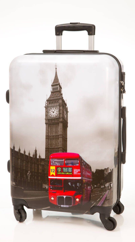 b7f7b3c2e Maleta Big Ben mediana Dura de 4 ruedas, con un estampado del principal  monumento londinense