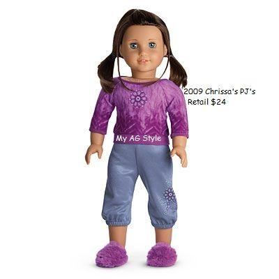 American Girl Doll Chrissa\'s PJ\'s   AG Chrissa Maxwell 2009 Doll of ...