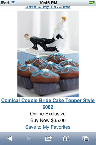 Awesome cake.topper : ) lol